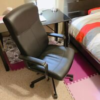 Used black leather chair for sale