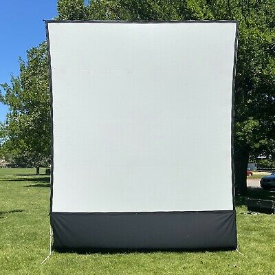 Da-lite 12 X 12 Fast Fold Front Projector Screen With Dress Skirt Easy Assembly