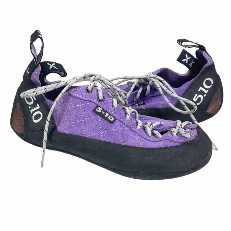 5.10 Five Ten Stealth C4 Rock Climbing Shoes 5-10 Purple Size 7