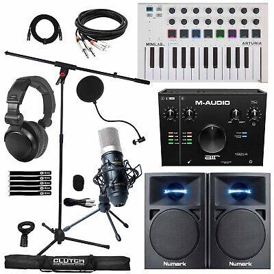 Home Recording Bundle Air 192 Audio Interface w Speakers, Keyboard & Mic