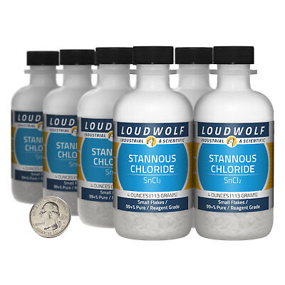 Stannous Chloride 2 Lbs 8 Bottles 99 Pure Reagent Grade Small Flakes