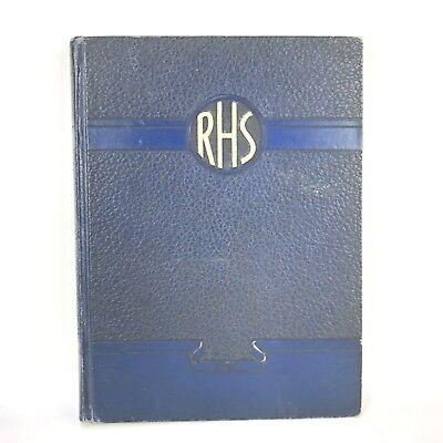 Vtg 30s 1937 RHS Yearbook High School Rockford IL Richard Crowder Architecture