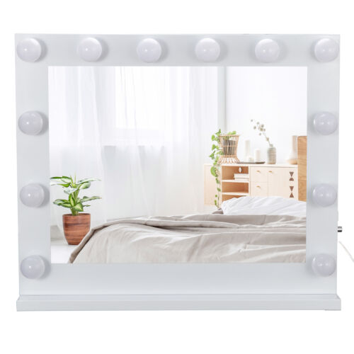 Hollywood Style Vanity Mirror With Lights Makeup Mirror with 14 Dimmable LEDs Health & Beauty