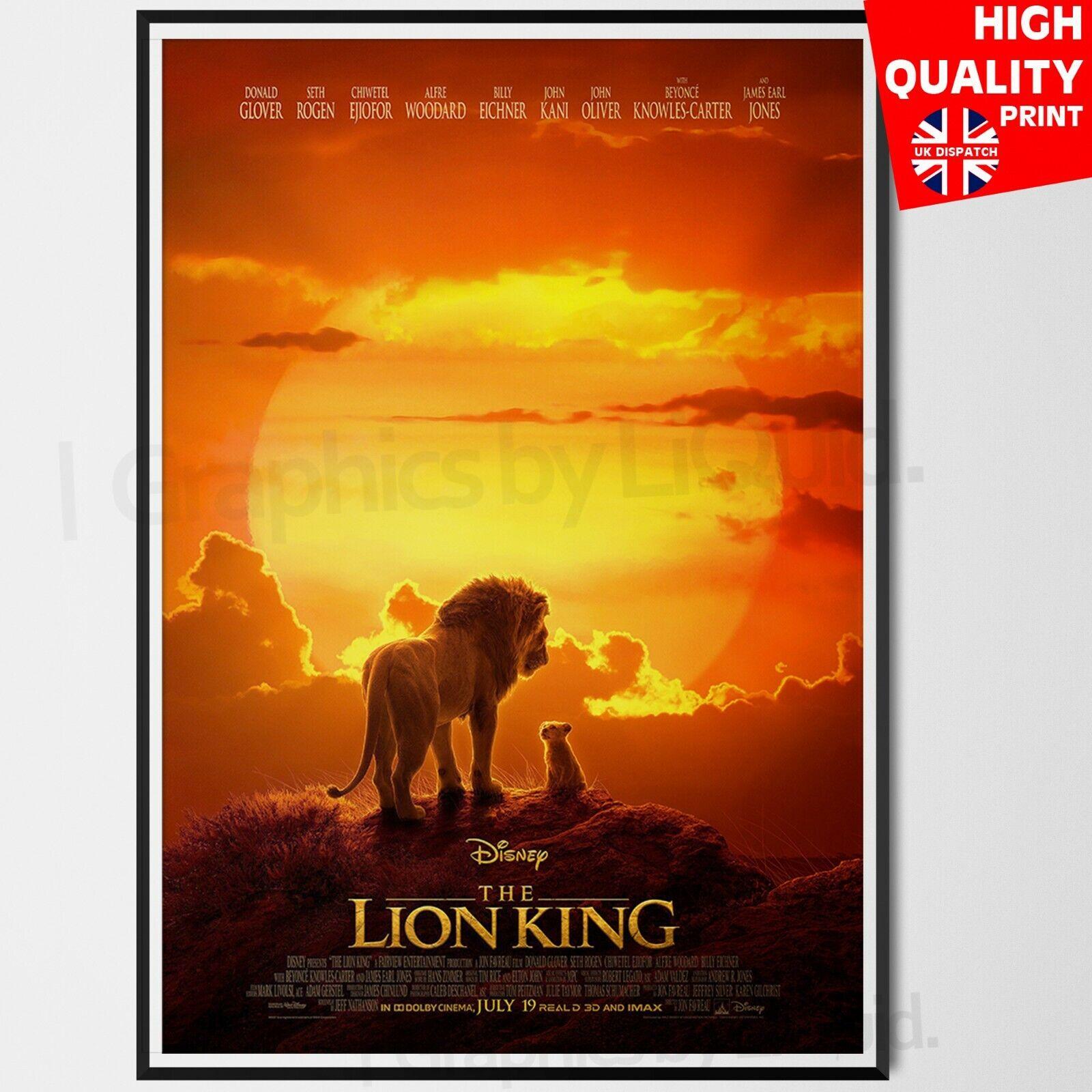 The Lion King Movie Disney 2019 Poster Art Film Print