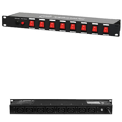 *FREE DELIVERY* PC08 Power Panel 8 Way Switch Control Connection 10A PC DJ