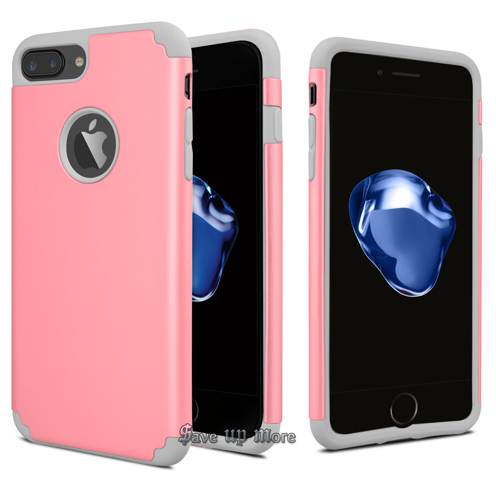 Shockproof Rugged Rubber Defender Hard Case Cover For iPhone 7 6S 8 Plus + X