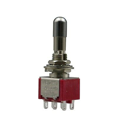 1pcs Sh T8012-lk Lock Type On-off-on 3position 6pin Mini Toggle Switch Dpdt
