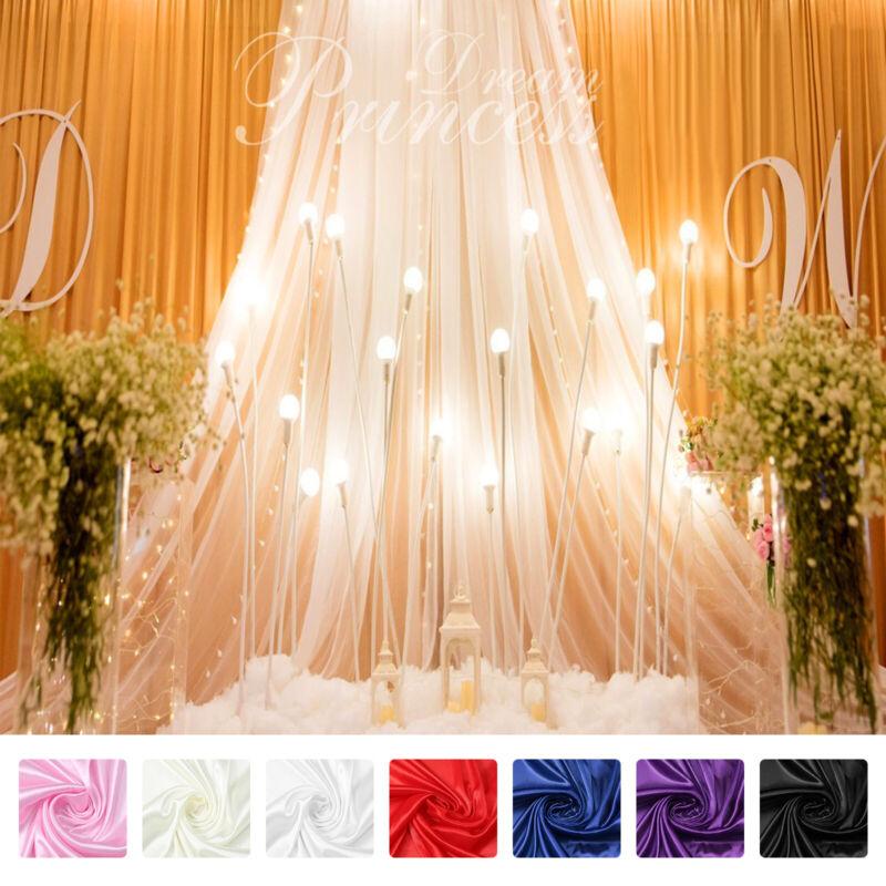 Ice Silk Background Fabric Wedding Backdrop Photo Drape Party Venue Wall Decor