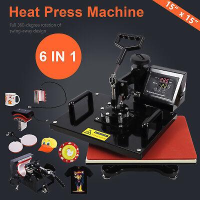 15x15 Diy Digital Swing Away T-shirt Heat Press Machine Sublimation Transfer