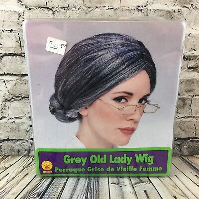 Grey Old Lady Wig Halloween Costume Hair Accessory Rubies # 50830 - Old Lady Halloween Wig