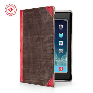 Twelve South BookBook for iPad (2-4th Gen), leather case w/ display angle , Red