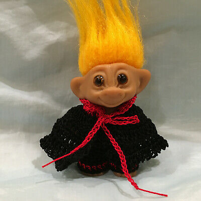 "~Halloween Count Dracula~ Troll Doll Crochet Cloth Outfit for- 2 1/2""-2 3/4"" DAM"