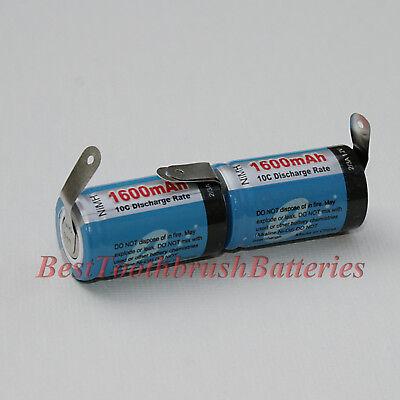 ブラウンオーラル-Bソニックコンプリート歯ブラシ修理交換用NiMHバッテリー、1ペア