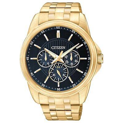 Citizen Quartz Men's Chronograph Blue Multi Dial Gold-Tone 42mm Watch AG8342-52L