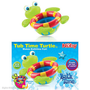 nuby bath time tub toy floating turtle toss fun baby kids boys girls bpa free ebay. Black Bedroom Furniture Sets. Home Design Ideas