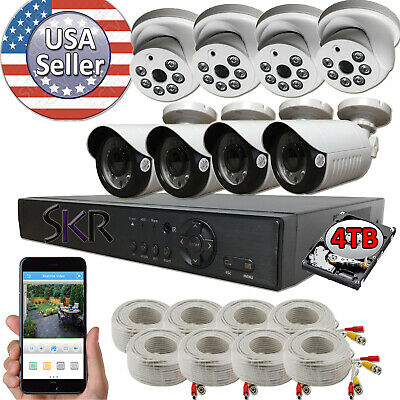 Sikker Standalone 8 ch Channel DVR 1080P Surveillance Camera