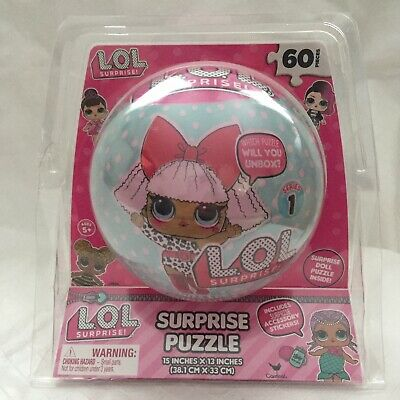 New LOL Surprise Ball Doll Puzzle 60 Pieces with Stickers Rare Brand New Sealed