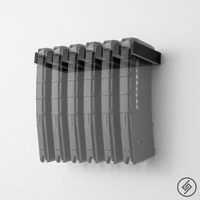 Standard PMAG Wall Mount 6x - Low Profile Magazine Rack - Display Spartan Mount™
