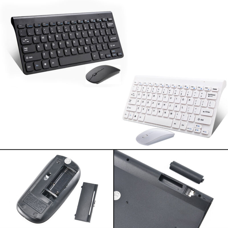 Für PC Computer Kabellos Funk USB Wireless Keyboard Tastatur und Maus Bluetooth
