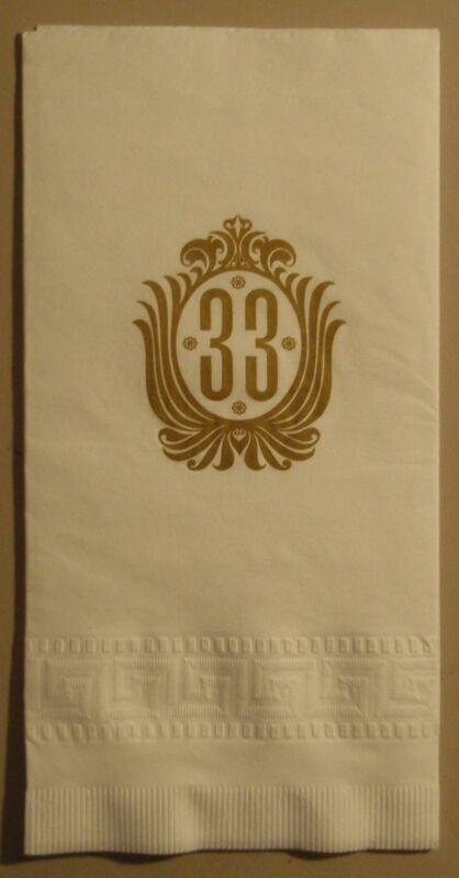 RARE! Original DISNEYLAND Club 33 Paper Napkin UNUSED MINT