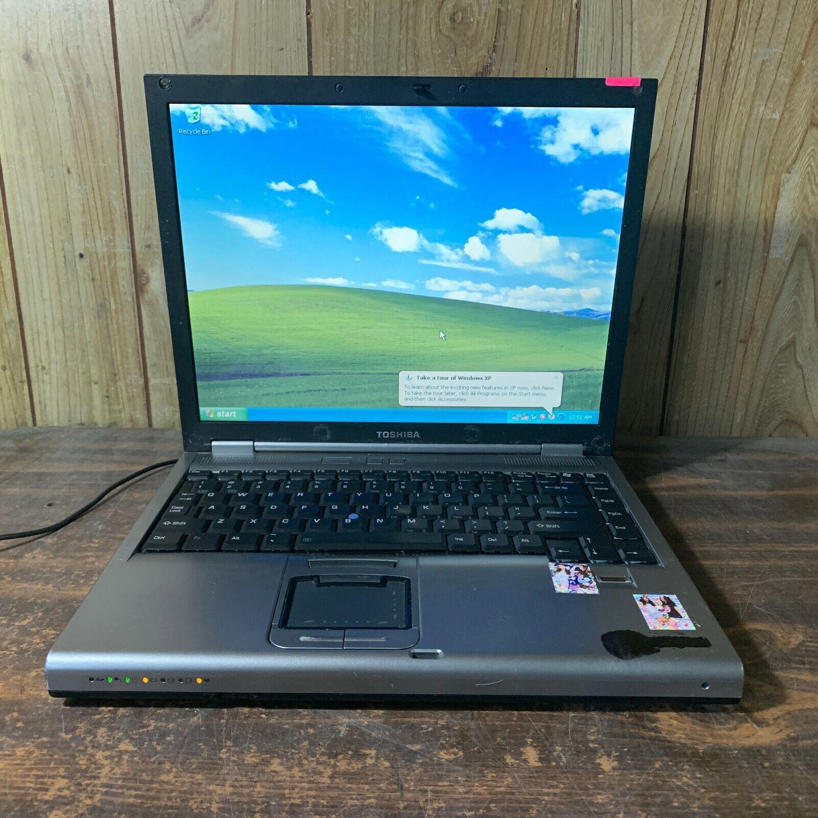 """Laptop Windows - Toshiba Tecra M5-S5332 12"""" Windows XP PRO Laptop Intel C2D 1.83ghz 1gb 100GB"""