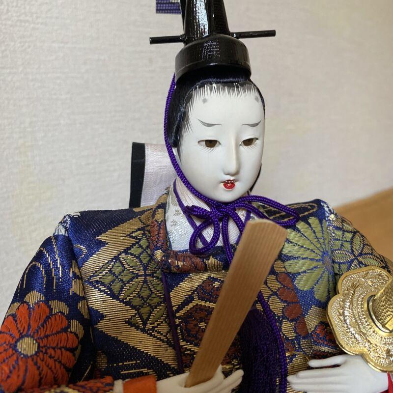 Japanese Samurai doll Emperor Gorgeous Bushi kimono vintage Zen tatami mat #2