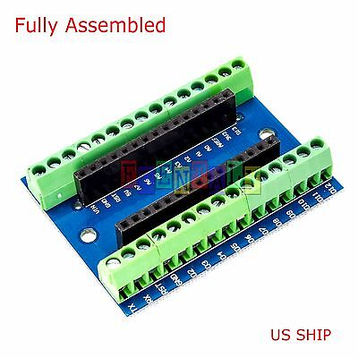 Screw Terminal Expansion Adapter Board Shield 4 Arduino Nano V3.0 AVR ATMEGA328P