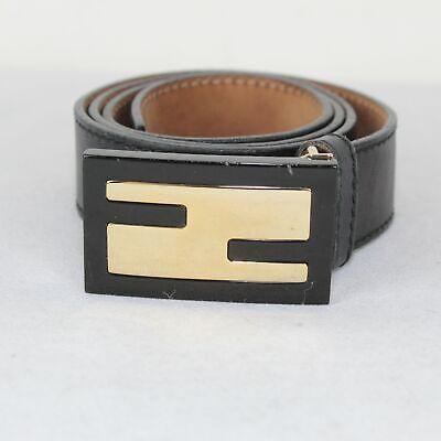 FENDI Black Leather Mens Belt  75/30