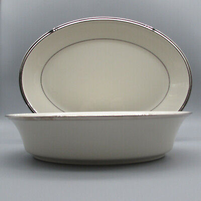 Lenox China Solitaire Oval Servers - Set of Two