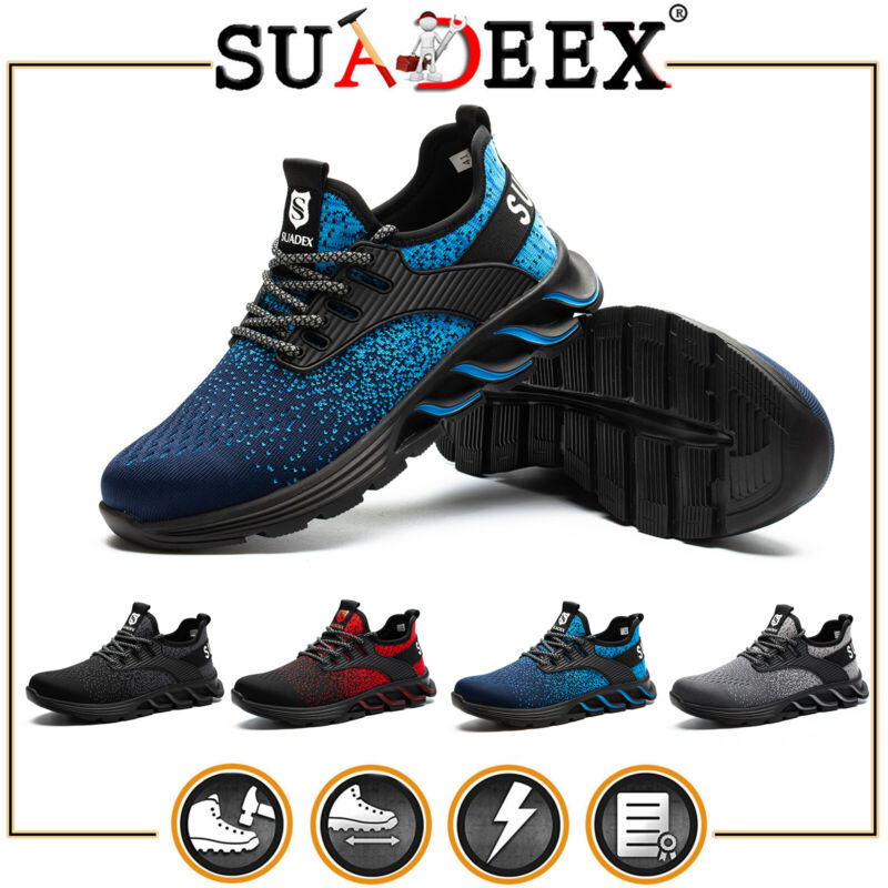 Safety Shoes Boots Steel Toe Sneakers Lightweight Puncture Proof Men Work Shoes