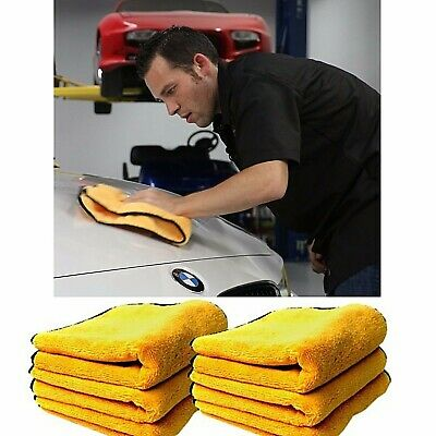 "Microfiber Cleaning Cloth Soft Car Set of 6 Towel Auto Drying Care 16"" x 24"""