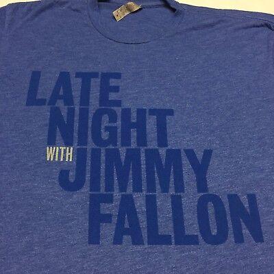 Late Night With Jimmy Fallon Blue Medium T Shirt Soft New York Lip Sync Battle