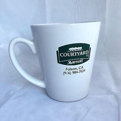 Marriott Courtyard Folsom California  Ceramic Coffee Java Mug Cup 4 Inch Tall