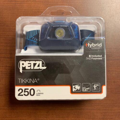 Petzl Tikkina 250 Lumens Head Lamp - Blue - E091DA02 - Fast Free Shipping