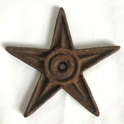 Vintage Cast Iron Architectural Star 6 5/8