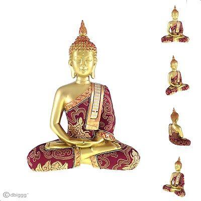 Buddha Meditieren (Thai Buddha meditieren rot gold Dekofigur Figur Höhe ca. 25 cm)