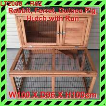 Rabbit, Ferret, Guinea Pig Hutch with Run Rosewater Port Adelaide Area Preview