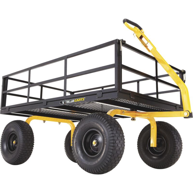 Gorilla Carts Heavy-Duty Steel Utility Cart - 1400-Lb. Capacity