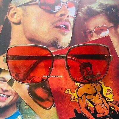 Fight Club Tyler Durden Red Sunglasses - Best Rose Lenses (Best Sunglass Lens)