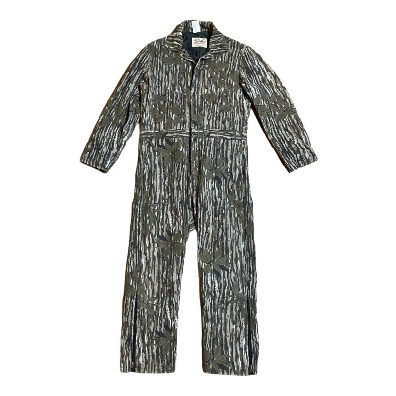 WALLS Blizzard-Pruf Vtg USA Camouflage Hunting Cotton COVERALLS Large  insulated