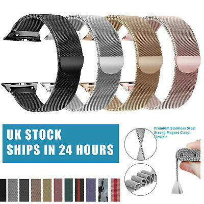 For Apple Watch Series 5 4 3 2 1 Magnetic Milanese Loop Wristwatch Band Strap
