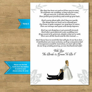 Wedding Gift Money Poems For Invites Funny Bride Pulling Groom 12 Colour Options