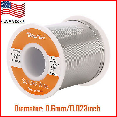 60-40 Solder Wire Tin Lead Rosin Core Soldering Sn60 Pb40 Flux 0.0230.6mm 1lb