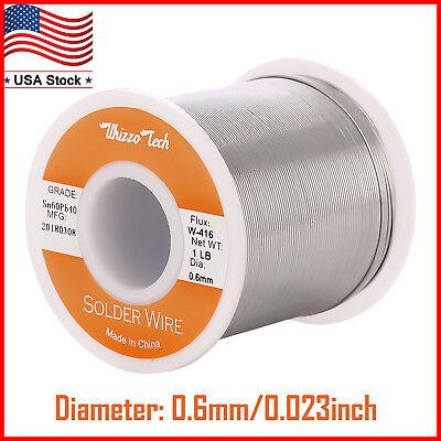 60-40 Solder Wire Tin Lead Rosin Core Soldering Sn60 Pb40 Flux 0.0230.6mm 1lb
