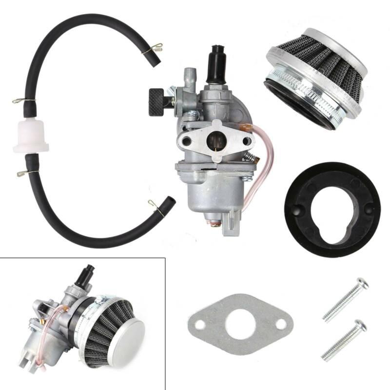 Vergaser 49cc Luftfilter Benzin Schlauch Filter für Pocketbike Dirtbike 2-Takt