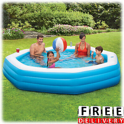 Inflatable Swimming Pool 9' Family Kid Adult Fun Backyard Round Above Ground New ()