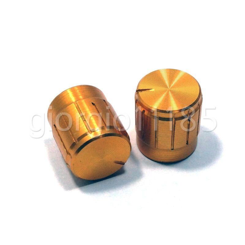 US Stock 10x Aluminum Hi-Fi CD Volume Tone Control Potentiometer Knob 6mm Golden