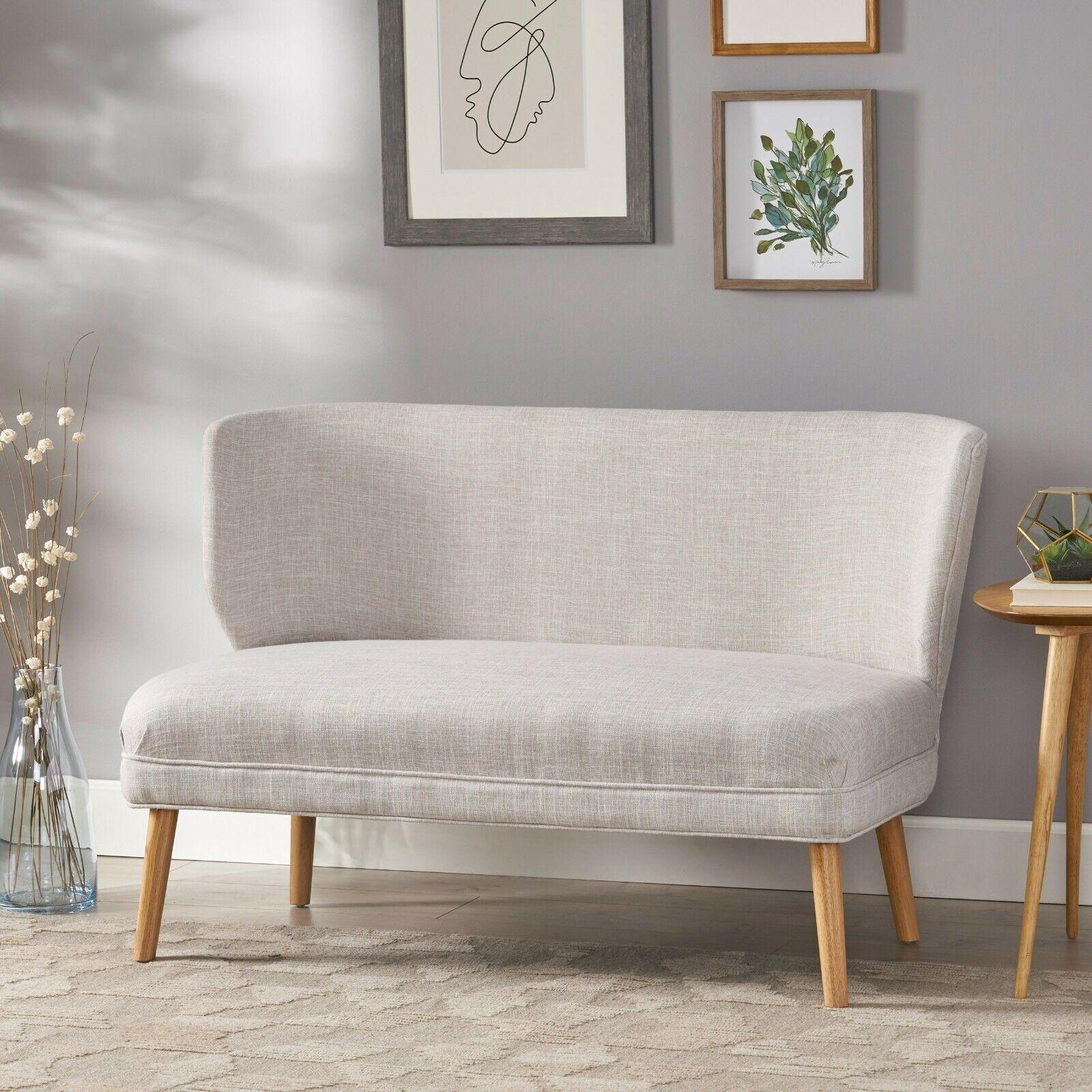 Dumont Mid Century Modern Fabric Loveseat Sofa Settee Furniture