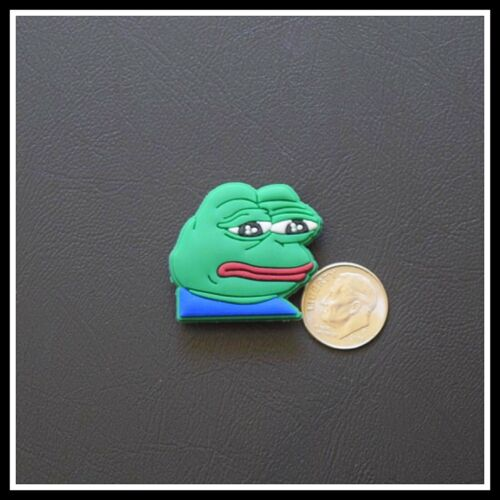 Shoe Charm for Crocs PEPE FROG MEME Crying Sad Boys Club Feels Good Man