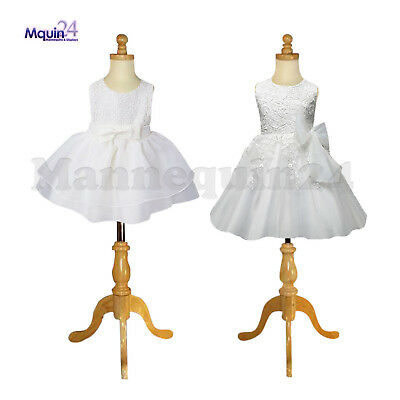 2 Child Mannequins Size 1-2 Yr 3-4 Yr Kids Dress Body Form With Wooden Base